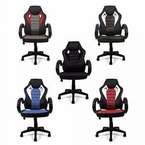 Bürostuhl Mesh Kunstleder Chefsessel Schreibtischstuhl Bürosessel Stuhl (Schwarz)