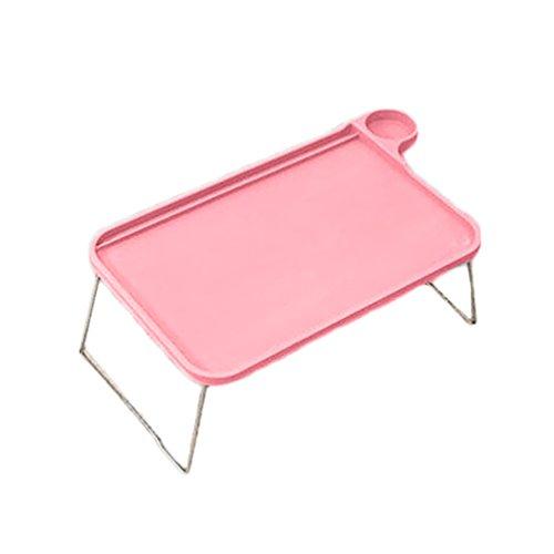 bismarckbeer Sofa Bett-Tablett mit klappbaren Beinen Laptop Frühstück Bett-Tablett für Essen Studium, rose, Einheitsgröße