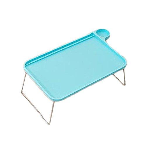 bismarckbeer Sofa Bett-Tablett mit klappbaren Beinen Laptop Frühstück Bett-Tablett für Essen Studium, blau, Einheitsgröße