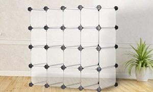 16Paar Freistehend Cube Organizer Schuhregal Display Ständer Interlocking/anpassbar Lagerung Organizer Multi-Funktionalität weiß