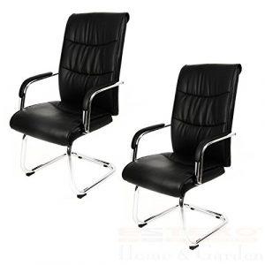 2 x Besucherstuhl Bürostuhl Kunstleder Besucherstuhl Schreibtischstuhl Chef Sessel