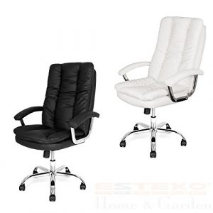 Estexo® Bürostuhl Drehstuhl Schreibtischstuhl Bürosessel Chefsessel Stuhl (Schwarz)