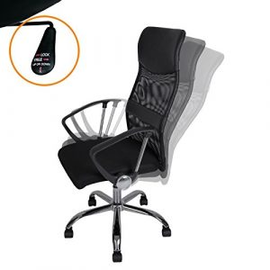 Bürostuhl MESH schwarz – Drehstuhl Schreibtischstuhl Chefsessel Bürosessel Stuhl
