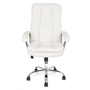 Bürostuhl weiß Drehstuhl Schreibtischstuhl Bürosessel Chefsessel Arbeitsstuhl Weiß