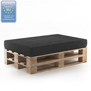 Farbvielfalt Palettensofa Palettenpolster Kissen Sofa Couch Polster Indoor Outdoor (Sitzkissen, Anthrazit)