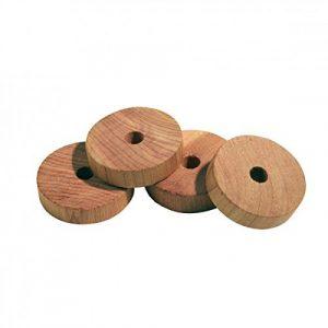 12 Stück Mottenschutz Zedernholz Zedernholz-Ringe für Kleiderschrank gegen Motten von M&H-24