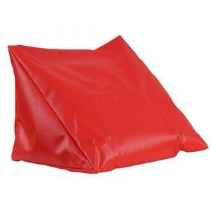 Lesekissen Rückenkissen Relaxkissen Kunstleder-Keilkissen für Bett, Couch, Fernsehen, Rückenstütze für bequemes Sitzen, Nackenkissen, Keilkissen für den Rücken mit Schaumstoffflockenfüllung (rot)