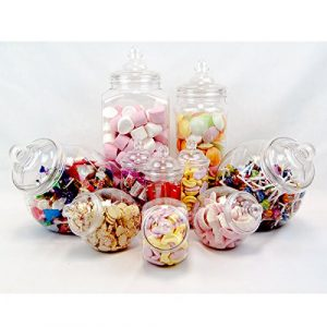 Bonbonnieren-Set, Vintage-Stil, viktorianisches Design, für Süßigkeiten-Buffets auf Partys, 10Bonbon-Gefäße