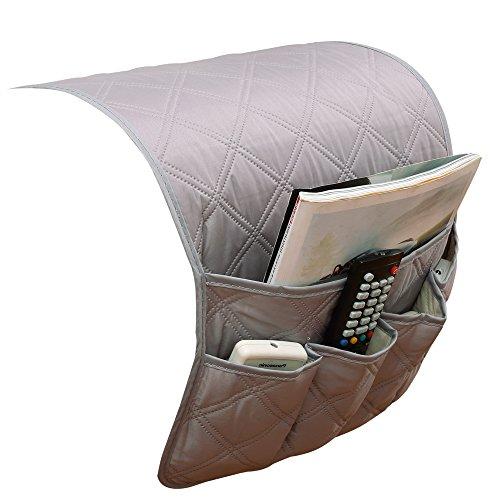 puting Space Saver Sofa Couch Armlehne Organizer Stuhl, wasserdicht, passt für Handy, Buch, Zeitschriften, TV Fernbedienung Halter Grau