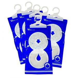 Luftentfeuchter für Kleider-schrank | Wäschetrockner | MY DEHUMIDIFIER FOR WARDROBE | Feuchtigkeits-killer mit Duft-Granulat | gegen Feuchtigkeit, Schimmel, Gerüche | 6 Hänge-Entfeuchter