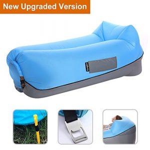 Aufblasbares Sofa Air Lounger mit Kissen Wasserdichtes Luft Liege Luftsofa Couch Bett Sitzsack Aufblasbare Einfach Tragbar für Outdoor Strand Camping Schwimmbad Wandern Kinder Erwachsene von Kungber