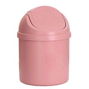 Mini-Mülleimer von Leisial, kreativer Schreibtisch-Abfalleimer für zuhause in der Küche oder als Aufbewahrungsbox im im Büro, plastik, rose, Einheitsgröße