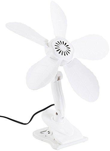 Sichler Haushaltsgeräte Lüfter: Tisch-Ventilator VT-131.C mit Befestigungs-Clip, 11 W, 34 cm (Tisch Klimagerät zum Clippen für Büro, Schreibtisch, Tisch, Regal)