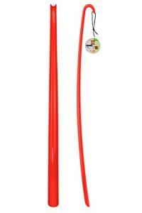 Schuhlöffel – Schuhanzieher – XXL – Rot – 1 Stück – aus hochwertigem Kunststoff – extra lang – 77 cm