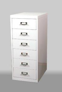 Schubladenschrank, 66x28x40cm, 6 Schubladen, weiß, Marke: Szagato (Büroschrank, Werkzeugschrank, Werkstattschrank)