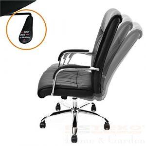 ESTEXO® Bürostuhl Kunstleder Drehstuhl Schreibtischstuhl Chefsessel Bürosessel