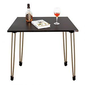 Need Schreibtische 80x60cm Esstische Kaffeetische Gartentisch Mehrzwecktisch Computertisch PC Tisch Schwarz AC4BT