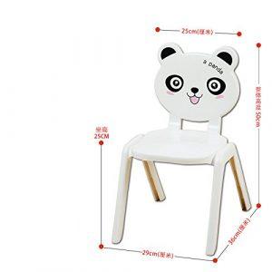 Dana Carrie Cartoon design Stühle Kinder Schreibtischstühle home Kindergarten Plastikstühle schönen niedrigen Hocker Hocker, Panda 29 * 36 * 50 cm 6 Stk.