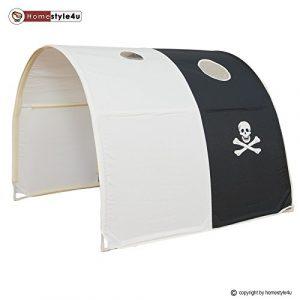 Homestyle4u Kinder Tunnel Bed Design, Holz,,, holz, Schwarz , 100 x 90 x 70 cm