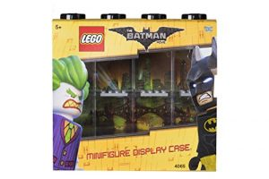 LEGO Batman Minifigur Display Schutzhülle für 8Figuren, stapelbar Container für Wand oder Schreibtisch–Schwarz