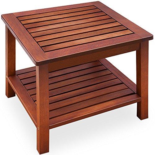 Beistelltisch vorgeölt Akazienholz Gartentisch Couchtisch Holztisch Tisch Holz 45x45x45cm