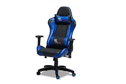 Bürostuhl WILD in blau/schwarz Gamerstuhl Racing Schreibtischstuhl
