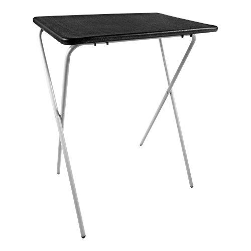 Taylor & Braun Zusammenklappbar leicht Tablett Tisch Schreibtisch ideal für Laptops Camping TV Abendessen Festivals (weiß) schwarz