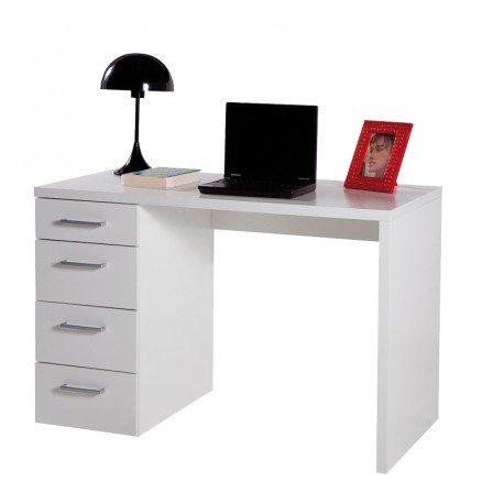 AVANTI TRENDSTORE - Schreibtisch in 2 verschiedenen Farben erhältlich - ca. 110x74x60cm (Weiß)