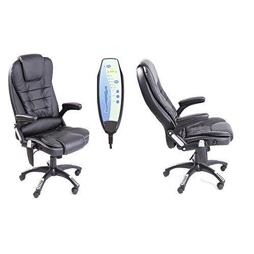 Neo Exekutive Leder Spiele Büro Computer-schreibtisch Drehgelenk Verstellbare lehne Stuhl oder Massage Liegestuhl erhältlich in 4 Farben - Massage - Schwarz