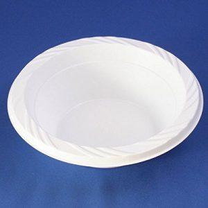 100x 12oz/34cl weiß Kunststoff Suppenteller Einweg Leichtes Party & Buffet