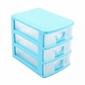 Multi Schichten Schublade Schreibtisch Organizer Aufbewahrungsboxen Container Jewelry Cosmetics Fall Schrank, plastik, blau, Three Layers#