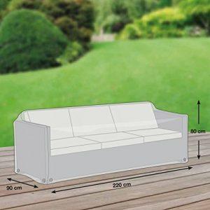 Loungesofa Abdeckung / Schutzhülle für Gartensofa – Premium (220 x 90 x 80 cm) wasserdichte Abdeckplane für 3er Gartenmöbel / Oxford 600D Polyestergewebe / mit Ventilationsöffnungen