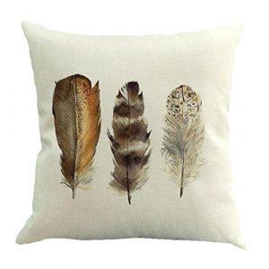 Feather Sofa Couch Dekoration Kissen Tasche Kissen By Dragon (Mehrfarbig d)