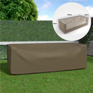 Schutzhülle Sofa 3Sitzer Wasserdicht Braun Klar 230x 100x 70cm