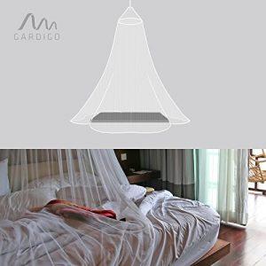 Gardigo Moskitonetz Doppelbett, Insektenschutz, Fliegengitter, Mückenschutz, Mückennetz, Farbe: weiß, Größe: Höhe 2,50 m, oben 0,65 m, unten 12,5 m