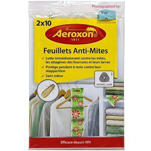 Aeroxon Mottenpapier 2×10 Blatt, Mehrfarbig, 18x13x4 cm