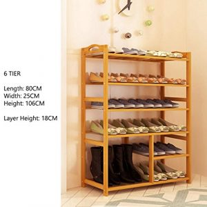 Ständer Für Stiefel Schuhe Bambus Einfach Lagerregal Leicht Kompaktes Regal 4 Bis 6 Tier 80cm Länge ( größe : 6 tier )