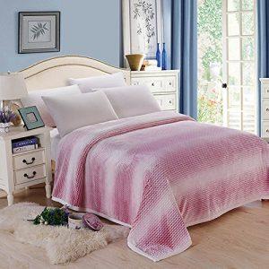 shinemoon Luxus Super Sofa Home warme Decke Überwurf für Bett, Couch Outdoor-Reise Camping Decken für kalte, 100 % Polyester, rot / weiß, 200x230cm