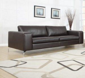 Madison Designercouch / Polstergarnitur / Polstercouch / Couch 3-Sitzer Kunstleder braun