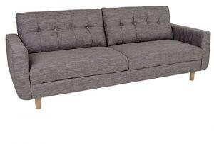 Sofa ARTE 3-Sitzer in hellgrau Couch