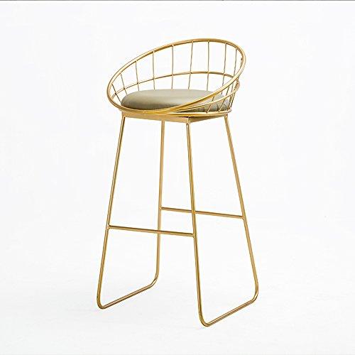Nordic Schmiedeeisen Stuhl Barhocker Stuhl / Cafeteria Bar Stuhl / Rezeption Stuhl / Barhocker / lässig Bürostuhl 95 * 44cm ( Farbe : Gold )