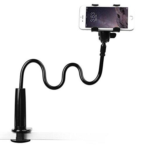 Enllonish 90cm Handyhalter, handy halterung Schwanenhals Halter Universal Ständer für iPhone Smartphone Handy Tablet 360° Drehen (Schwarz)
