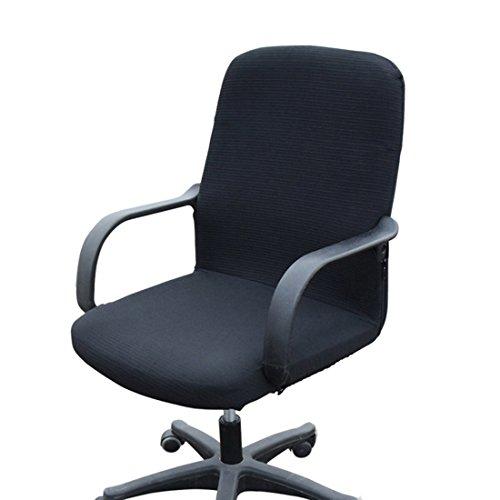 Dongfang begriffsklärung Stretch Bürostuhl Bezug abnehmbar Computer-Schreibtisch Stuhl Bettüberwurf Displayschutzfolie, Spandex, Schwarz, Large
