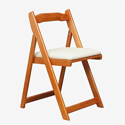GHM Klappstuhl Massivholz Home Computer Esstisch Schreibtisch Stühle (Farbe : Honigfarbe)