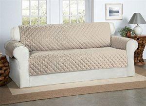 Beige / Creme 3-Sitzer Sofa Bezug Couchdeckel – Sofa Couch Luxus Gestepptes Möbelschutz