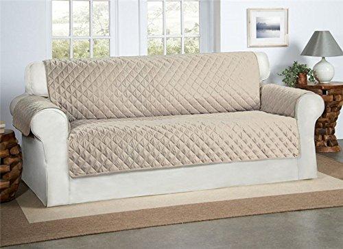 Beige / Creme 3-Sitzer Sofa Bezug Couchdeckel - Sofa Couch Luxus Gestepptes Möbelschutz