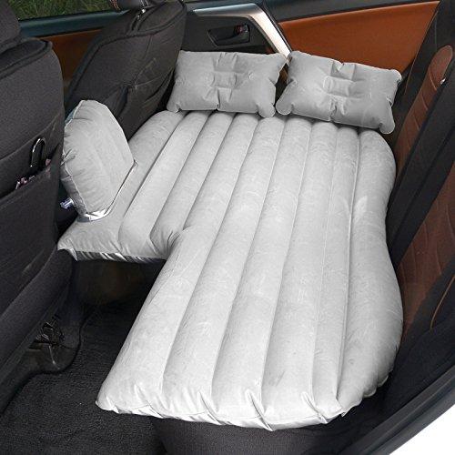 HAOXIAOZI Aufblasbares Bett Suv Auto Bett Im Freien Reise Bett Beflockung Rücksitz Schlafmatte,Gray