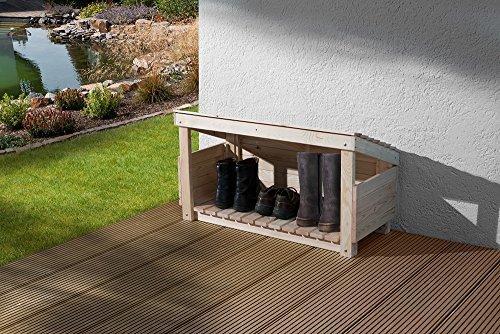 weka Holzbau GmbH Weka 196.0137.00.00 Schuh-und Stiefelbox, Naturbelassen, 102 x 59 x 48 cm