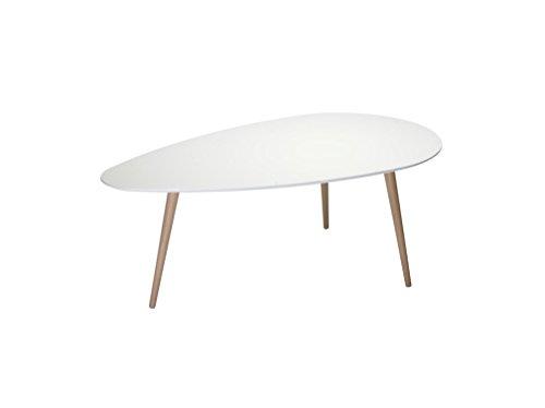 Wohnzimmertisch FAME in matt weiß Buche Couchtisch Tisch