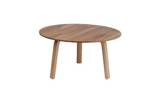 HAY Bella Coffee Table - 60/32 - Eiche natur - braun (hellbraun) HAY 2012, Eiche // Eiche Furnier, Couchtisch - Beistelltisch